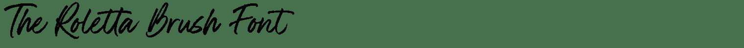 The Roletta Brush Font