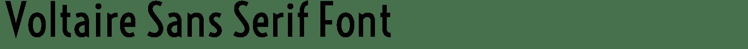 Voltaire Sans Serif Font
