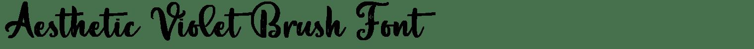 Aesthetic Violet Brush Font
