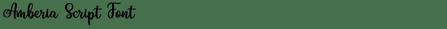 Amberia Script Font