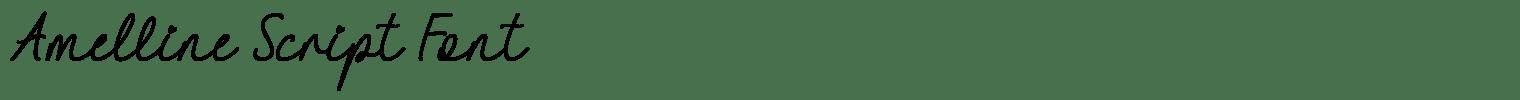 Amelline Script Font