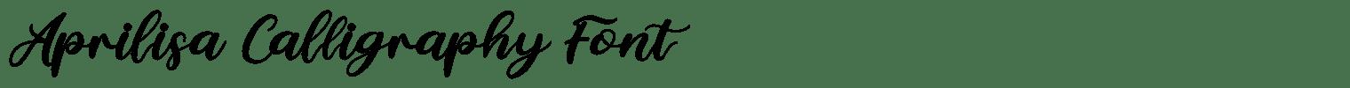 Aprilisa Calligraphy Font