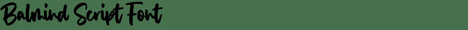 Balmind Script Font