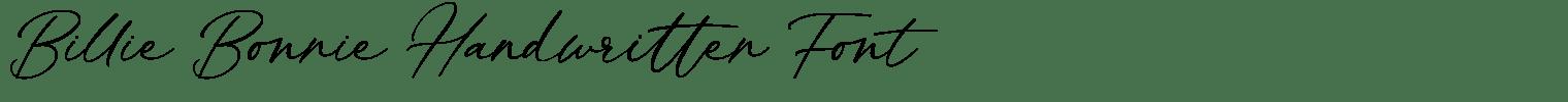 Billie Bonnie Handwritten Font
