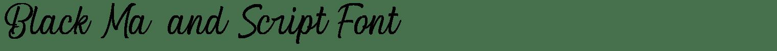 Black Matland Script Font