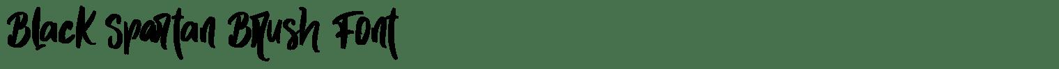Black Spartan Brush Font