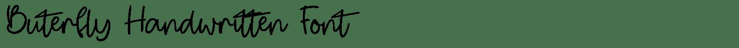 Buterfly Handwritten Font