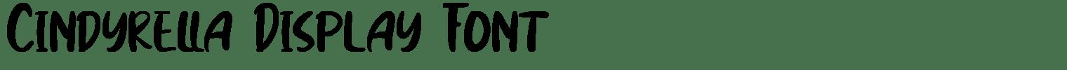 Cindyrella Display Font