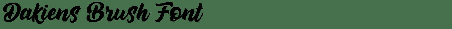 Dakiens Brush Font