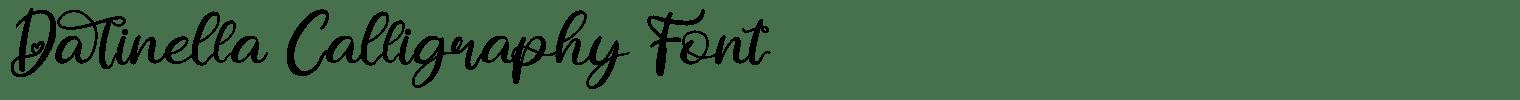 Darinella Calligraphy Font
