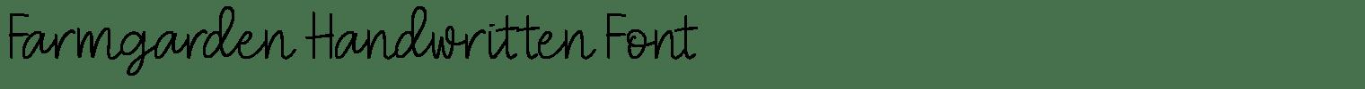 Farmgarden Handwritten Font