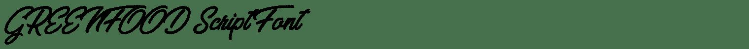 GREENFOOD Script Font