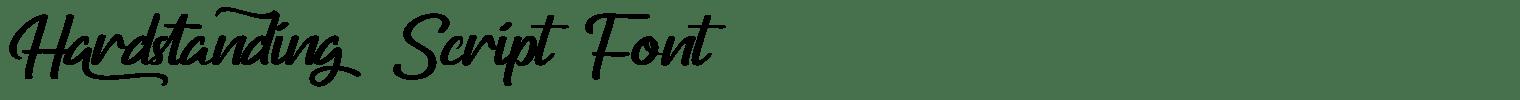 Hardstanding Script Font