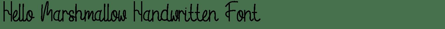 Hello Marshmallow Handwritten Font