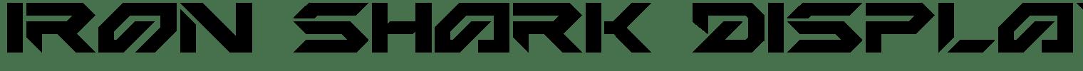 Iron Shark Display Font