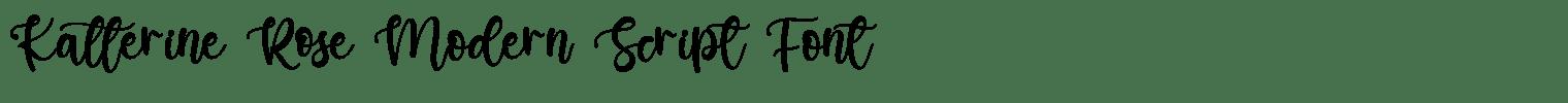 Katterine Rose Modern Script Font