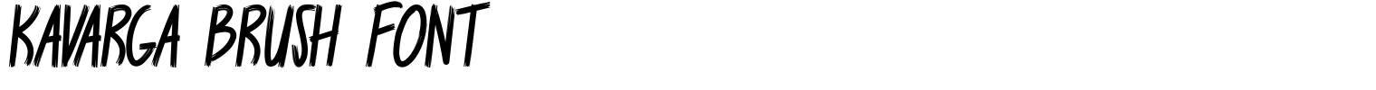 Kavarga Brush Font