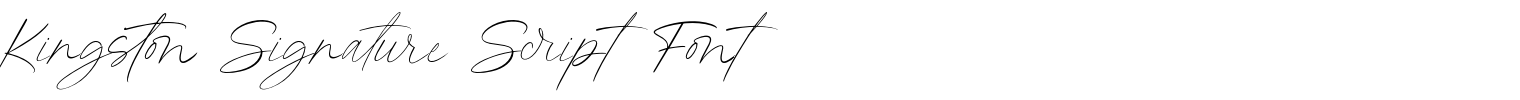 Kingston Signature Script Font