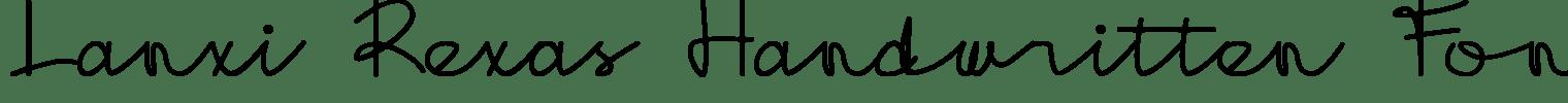 Lanxi Rexas Handwritten Font