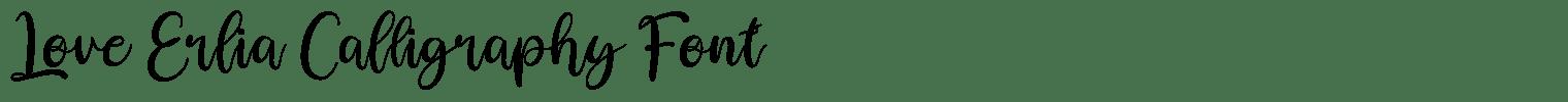 Love Erlia Calligraphy Font