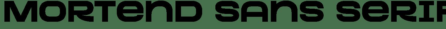 Mortend Sans Serif Font