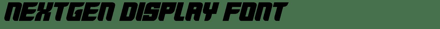 Nextgen Display Font