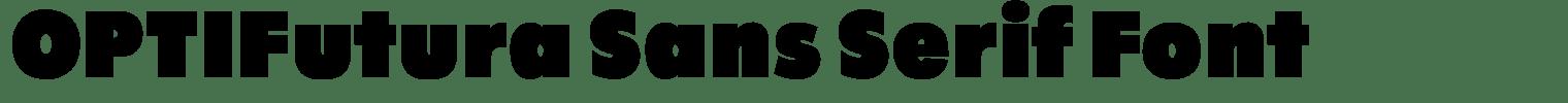 OPTIFutura Sans Serif Font