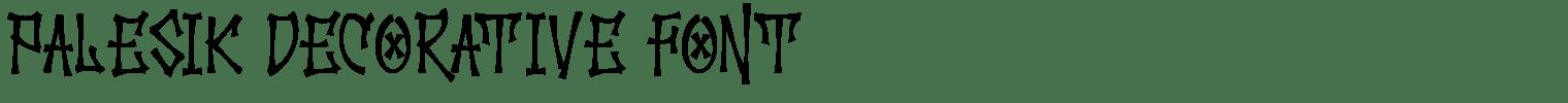 Palesik Decorative Font