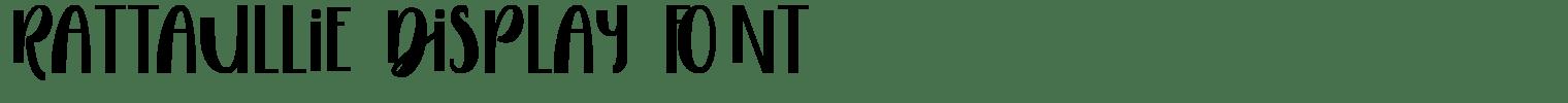 Rattaullie Display Font