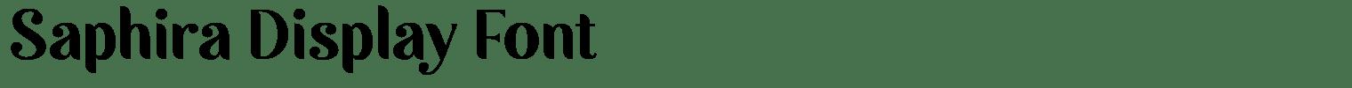 Saphira Display Font