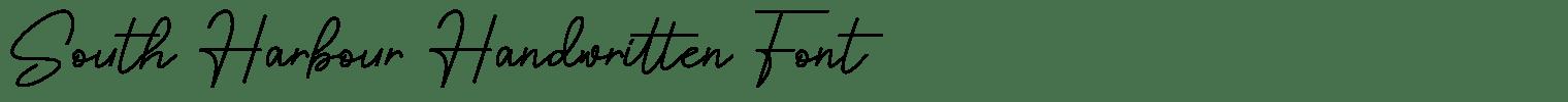 South Harbour Handwritten Font