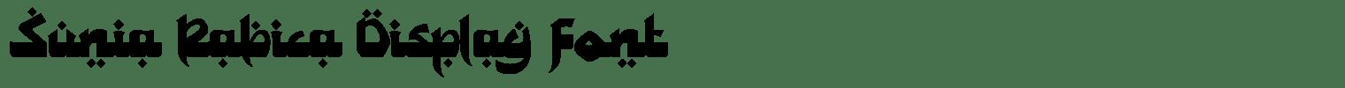Sunia Rabica Display Font