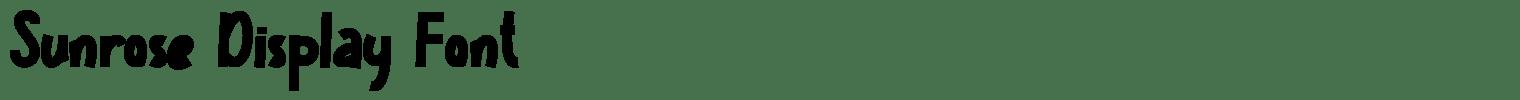 Sunrose Display Font