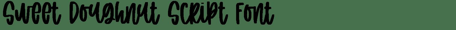 Sweet Doughnut Script Font
