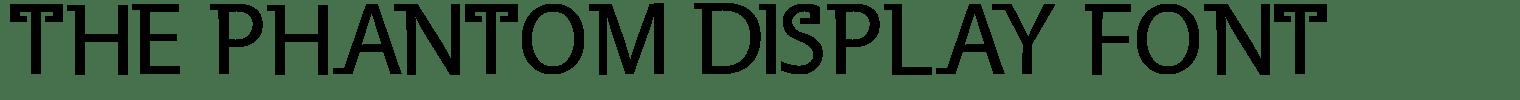 The Phantom Display Font