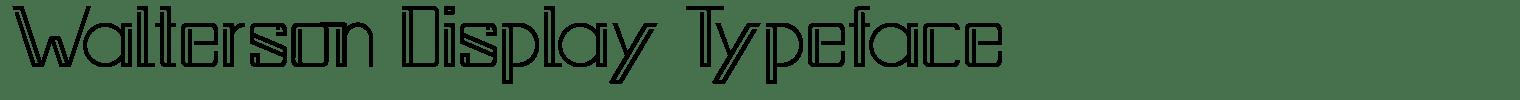 Walterson Display Typeface