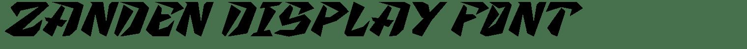 Zanden Display Font