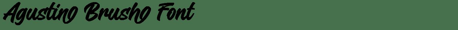 Agustin Brush Font
