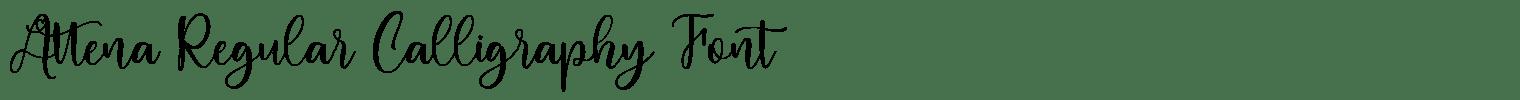 Attena Regular Calligraphy Font