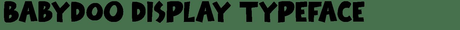 Babydoo Display Typeface