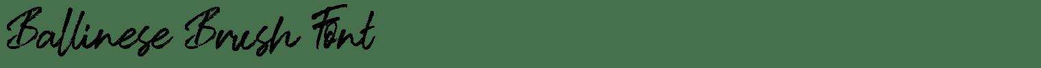 Ballinese Brush Font