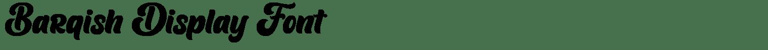Barqish Display Font