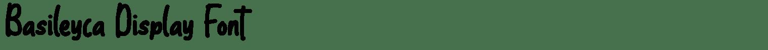Basileyca Display Font