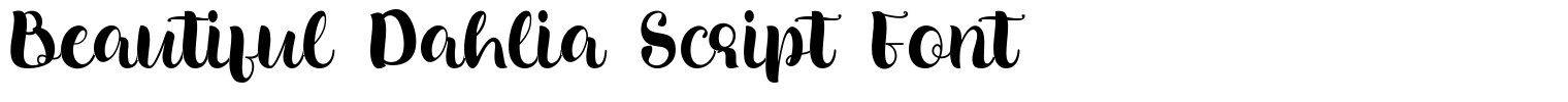 Beautiful Dahlia Script Font