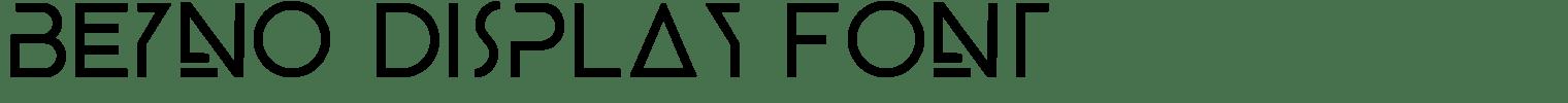 BEYNO Display Font
