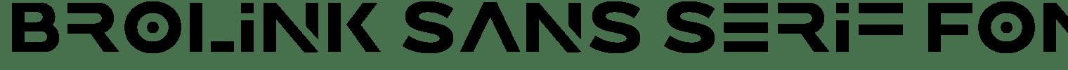 Brolink Sans Serif Font