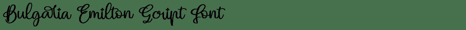 Bulgaria Emilton Script Font