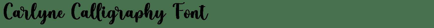 Carlyne Calligraphy Font