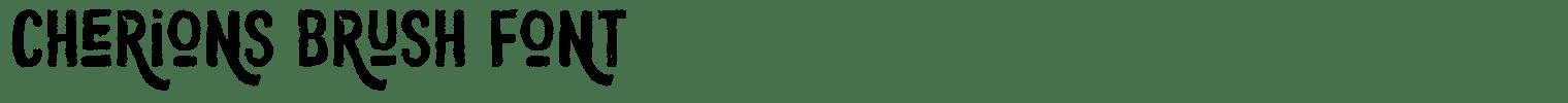 Cherions Brush Font