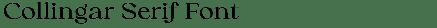 Collingar Serif Font